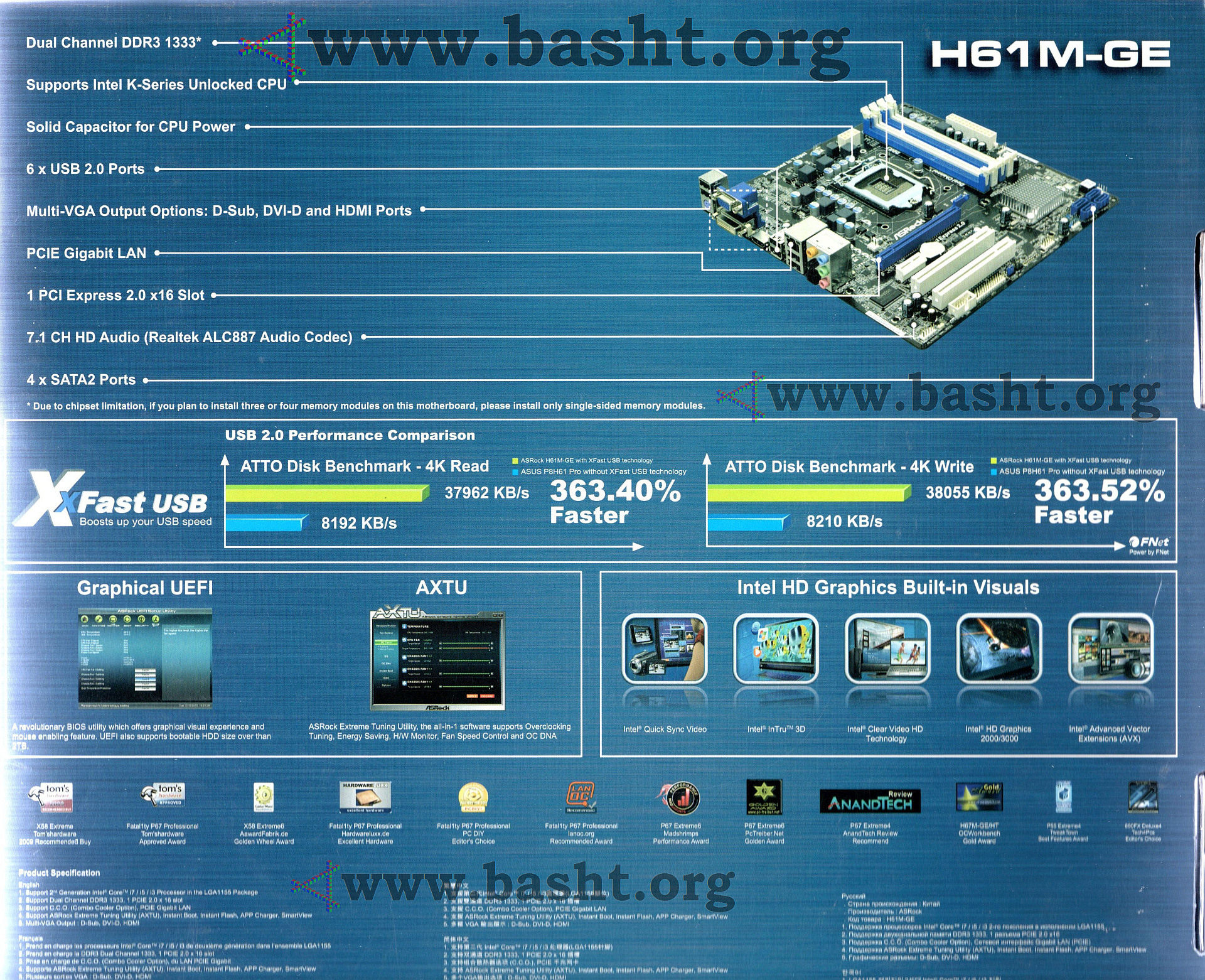 Asrock H61M-GE Extreme Tuning Drivers for Windows XP